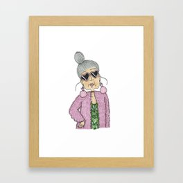 STYLISH GRANNY 4 Framed Art Print