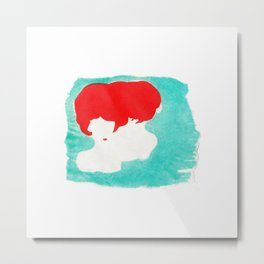Red & Green Metal Print
