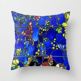 "John La Farge ""Butterflies and Foliage"" window. 1889 (3) Throw Pillow"