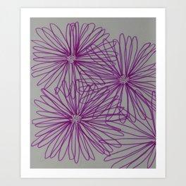 Abstract Pink Daisy Art Print