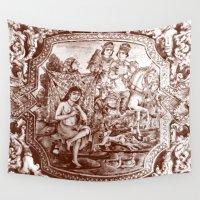 persian Wall Tapestries featuring Persian Love Story by Negin Khatoun