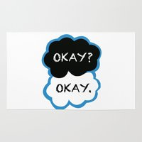 the fault in our stars Area & Throw Rugs featuring Okay? Okay. (The Fault in Our Stars) by All Things M