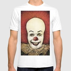 It - Pennywise (Color Version) White LARGE Mens Fitted Tee
