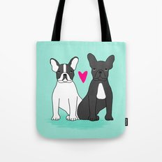 French Bulldog valentines day love gift for small dog person with frenchie cute puppy dog valentines Tote Bag