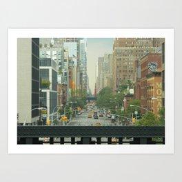 New York City - Down The Avenue Art Print