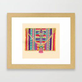 Ethnic clutch bag Framed Art Print