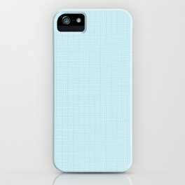 ice blue linen iPhone Case