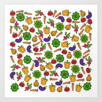 vegetables Art Prints featuring Vegetables by Alisa Galitsyna