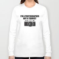 photographer Long Sleeve T-shirts featuring Photographer Tourist Funny by bitobots