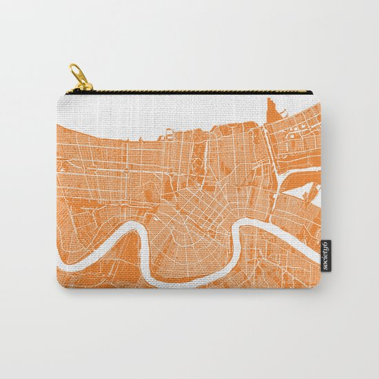New Orleans map orange Carry-All Pouch