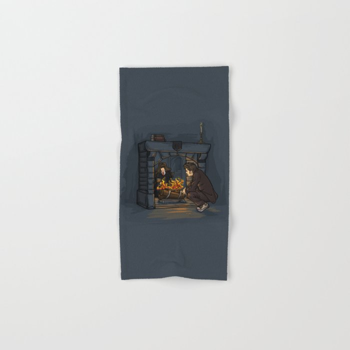 The Witch in the Fireplace Hand & Bath Towel
