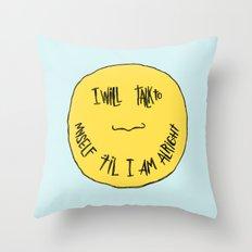 YELLOW OSTRICH Throw Pillow