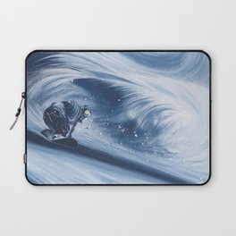 'Snowboarding Blue Blower' Laptop Sleeve