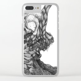 Bear in forest Clear iPhone Case