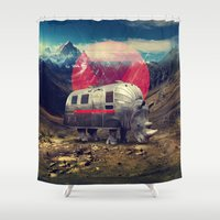 rhino Shower Curtains featuring Rhino by Ali GULEC