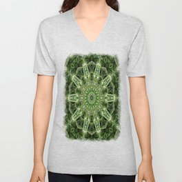 Spider Plant Kaleidoscope Art 4 Unisex V-Neck