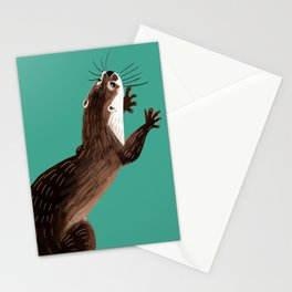 Asian small-clawed otter Marine Stationery Cards