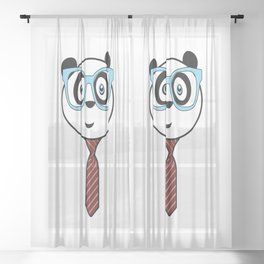 Panda Nerd Sheer Curtain