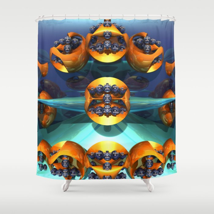 Cavitation Shower Curtain