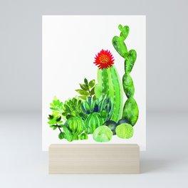 CACTUS WATERCOLOUR Mini Art Print