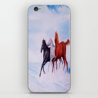 horses iPhone & iPod Skins featuring horses by shannon's art space