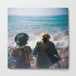 """Sisters on the Shoreline"" Holga color photograph Metal Print"