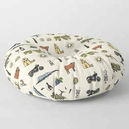 South of France pattern Floor Pillow