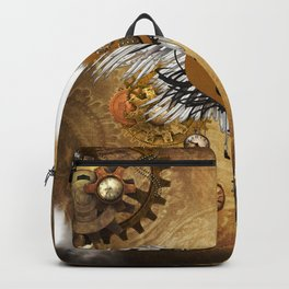Wonderful steampunk heart with clocks and gears Backpack