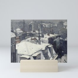 Gustave Caillebotte - Rooftops in the Snow Mini Art Print