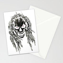 dark skull Stationery Cards