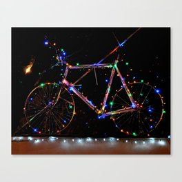 LIGHT UP MY BIKE Canvas Print