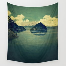 Distant Blues Wall Tapestry