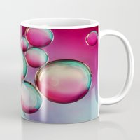 oil Mugs featuring H2O & Oil by Sharon Johnstone