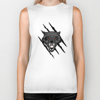gondor Biker Tanks featuring WOLF and ClAW by alexa