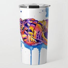 Rainbow Conch Sea Shell Travel Mug