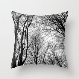 Tree Silhouette Series 6 Throw Pillow