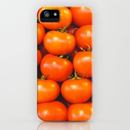 Vintage organically homegrown heirloom tomatoes illustration pattern iPhone Case