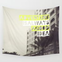 adventure Wall Tapestries featuring Adventure by Tina Crespo