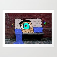 The Water Eye Art Print