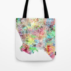 Los Angeles map california Tote Bag