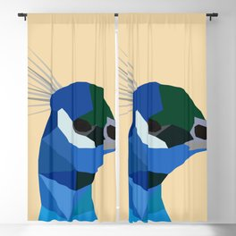 PEACOCK LOW POLY ART Blackout Curtain