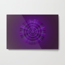 Magical Mystery Purple Shimmering Object Metal Print