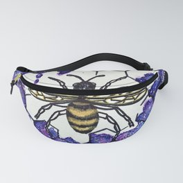 Nectar of the Universe- Galaxy Bee Honeycomb Fanny Pack