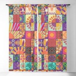 Bohemian Gypsy Hippie Festival Patchwork Blackout Curtain