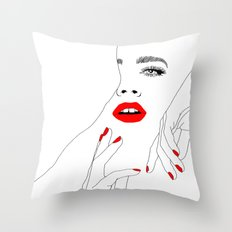The Lady In Red #2 Throw Pillow