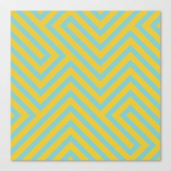 Pastel Labyrinth Canvas Print