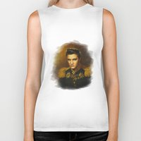 elvis presley Biker Tanks featuring Elvis Presley - replaceface by replaceface