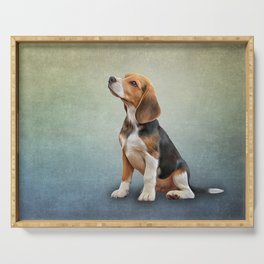 Drawing puppy Beagle Serving Tray