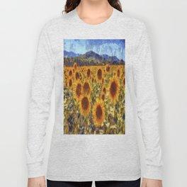 Sunflowers Vincent van Gogh Long Sleeve T-shirt