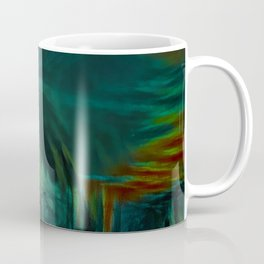Fog on the silent river in the early morning Coffee Mug